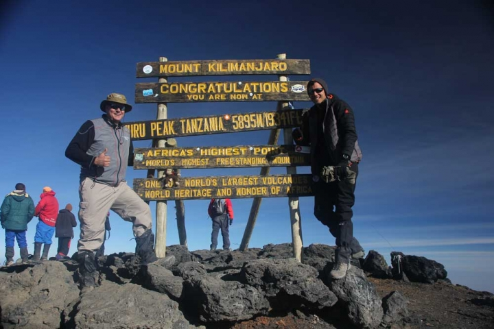 Farm Africa supporter Malcolm Dent and his son summitted Mount Kilimanjaro in July 2016. And if that wasn't impressive enough, they also raised a huge £500 for our work in eastern Africa, including a generous donation from Malcolm's employers, Booker Tate.