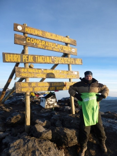 Peter Claxton, a long-time supporter of Farm Africa, climbed Mount Kilimanjaro in July 2016, raising hundreds of pounds for the farmers we work with.