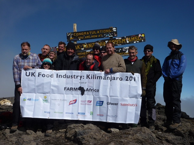 In September 2011, a group of food industry leaders led by Richard Macdonald and Charles Reed conquered Mount Kilimanjaro in Tanzania, the world's tallest freestanding mountain. The group kicked off Food for Good by raising a massive £250,000. Before the climb they were inspired by a visit to one of Farm Africa's projects in nearby Babati where the charity was supporting 4,500 sesame farmers to achieve yield increases of 75% and a life-changing 180% increase in their income.
