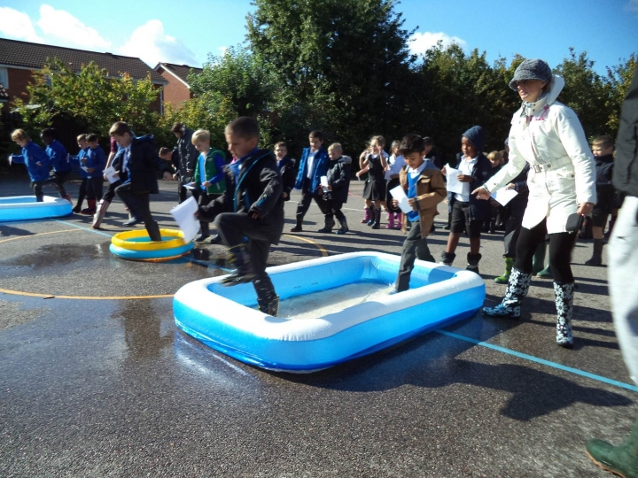 Tudor Court Primary School in Grays raised a record breaking £8,000 with a whole week of welly-themed fundraising ideas including a sponsored welly walk and welly obstacle race.