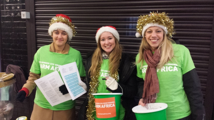 Ruth Watson, Natalie Vassiliou and Mimi Borst took part in Sing for their Supper by singing carols at Willesden Green tube station. They raised a grand total of £238.45.