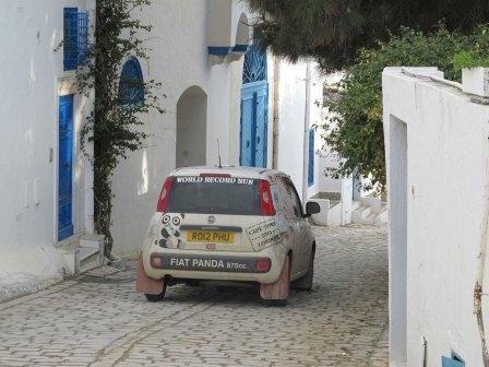 The Panda on the picturesque streets of Tunis