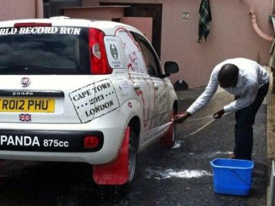 washing the car before they set off!