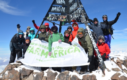 The Toubkal team at the summit