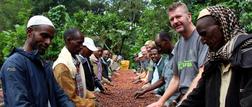 Devenish Nutrition's Alan Gibson meets Ethiopian coffee farmers in the Bale Mountains