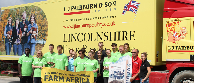 Staff from LJ Fairburn and Farm Africa at the official launch day of the Kilimanjaro Climb