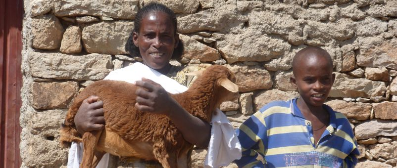 Letegziar's increased income means she can keep her son in school