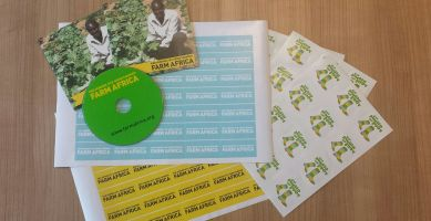 Farm Africa stickers and DVD