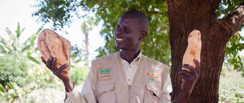Aloysius - Farmer and pioneer of the Orange Sweet Potato Project